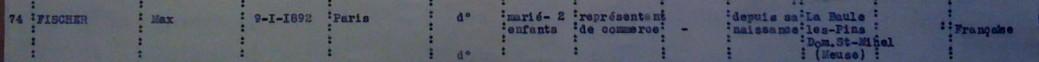 Liste dactylographiée du recensement 08 novembre 1940 [ADLA 1694W25]
