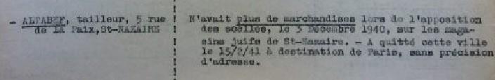 Courrier sous-préfecture Saint-Nazaire au Commissariat aux Questions Juives, 26 septembre 1941 [ADLA 1694W25]