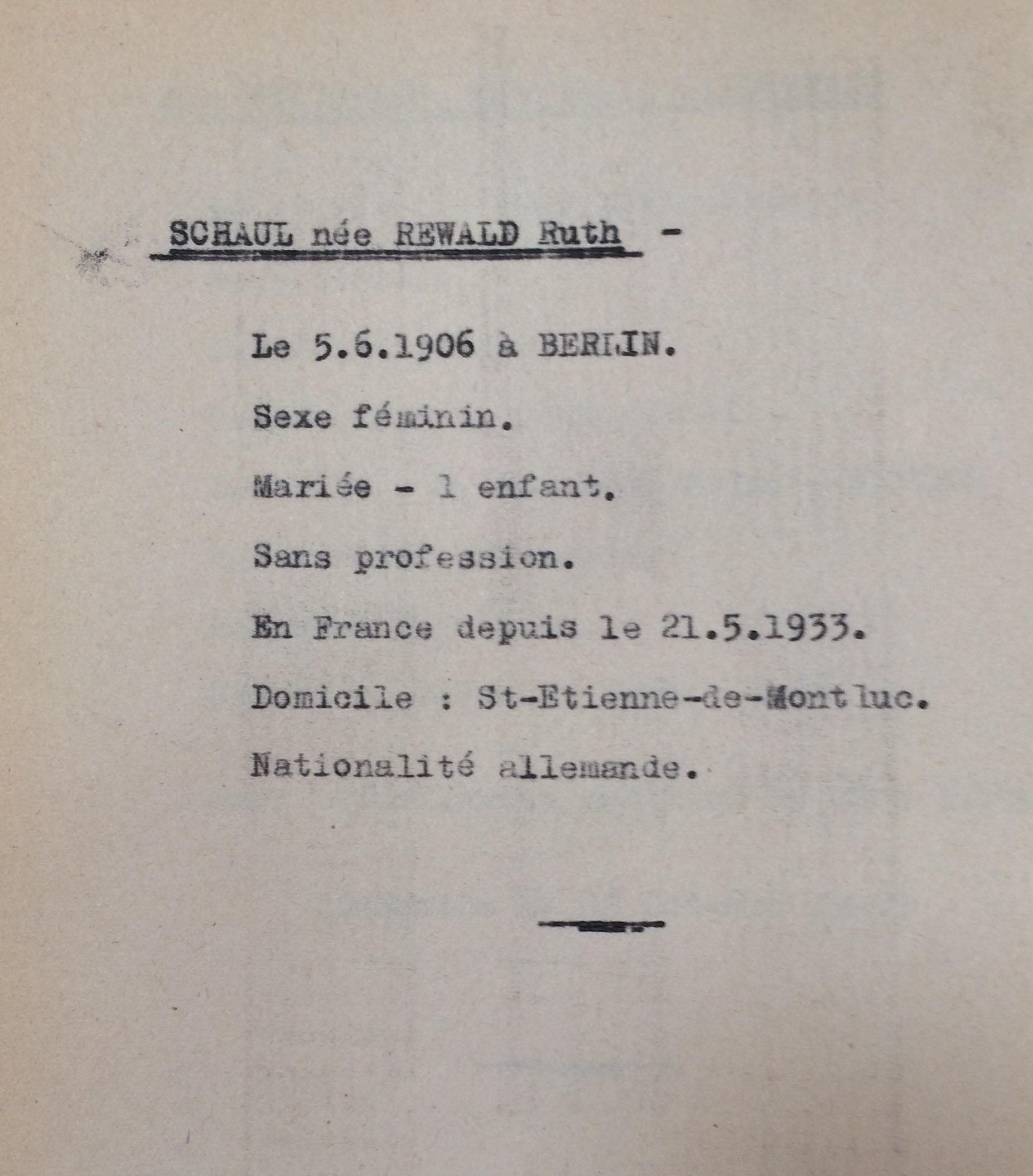 Fiches Allemands Polonais Slovaques Autrichiens [ADLA 1694W25]
