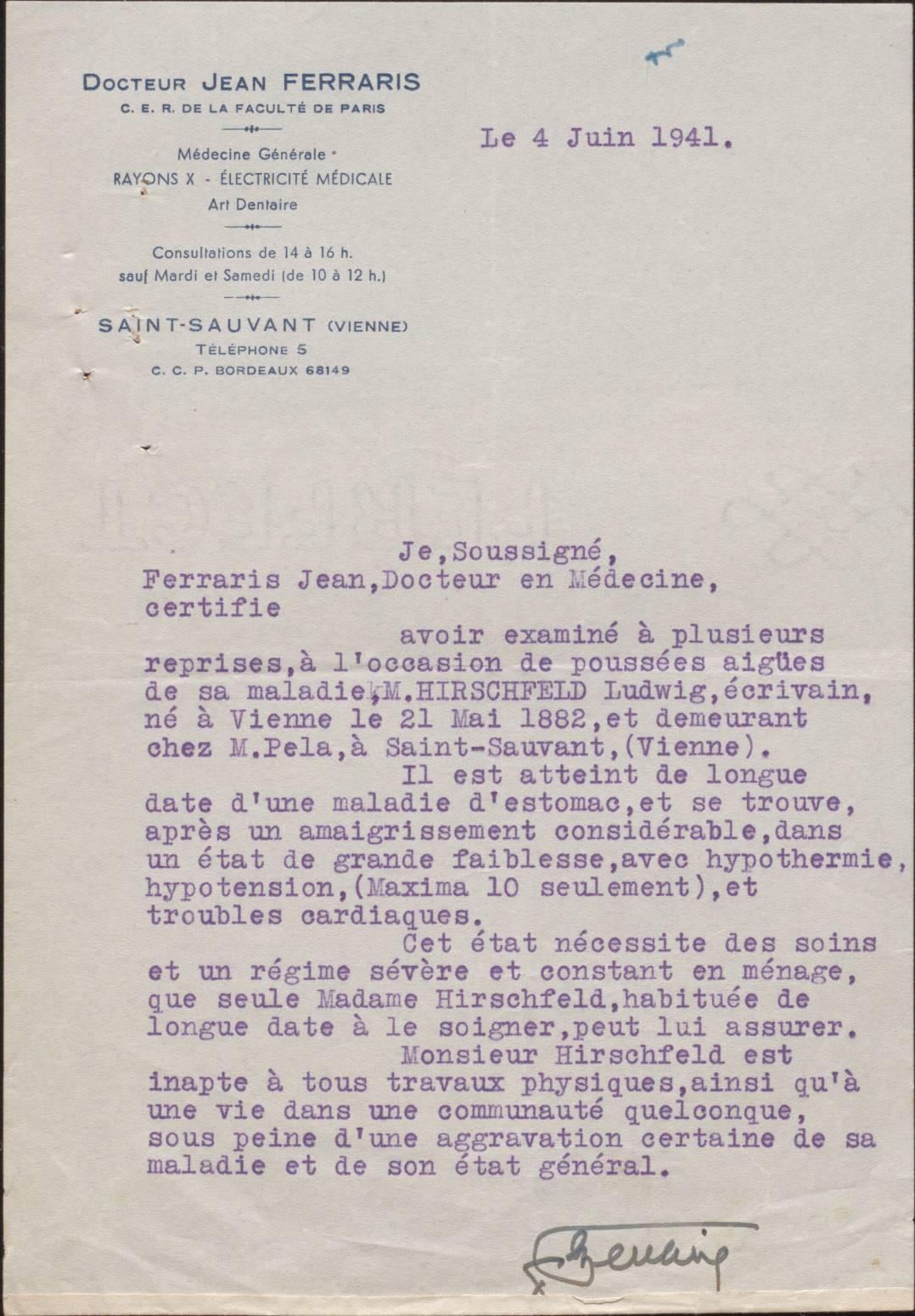 Archives Départementales de la Vienne 22U369