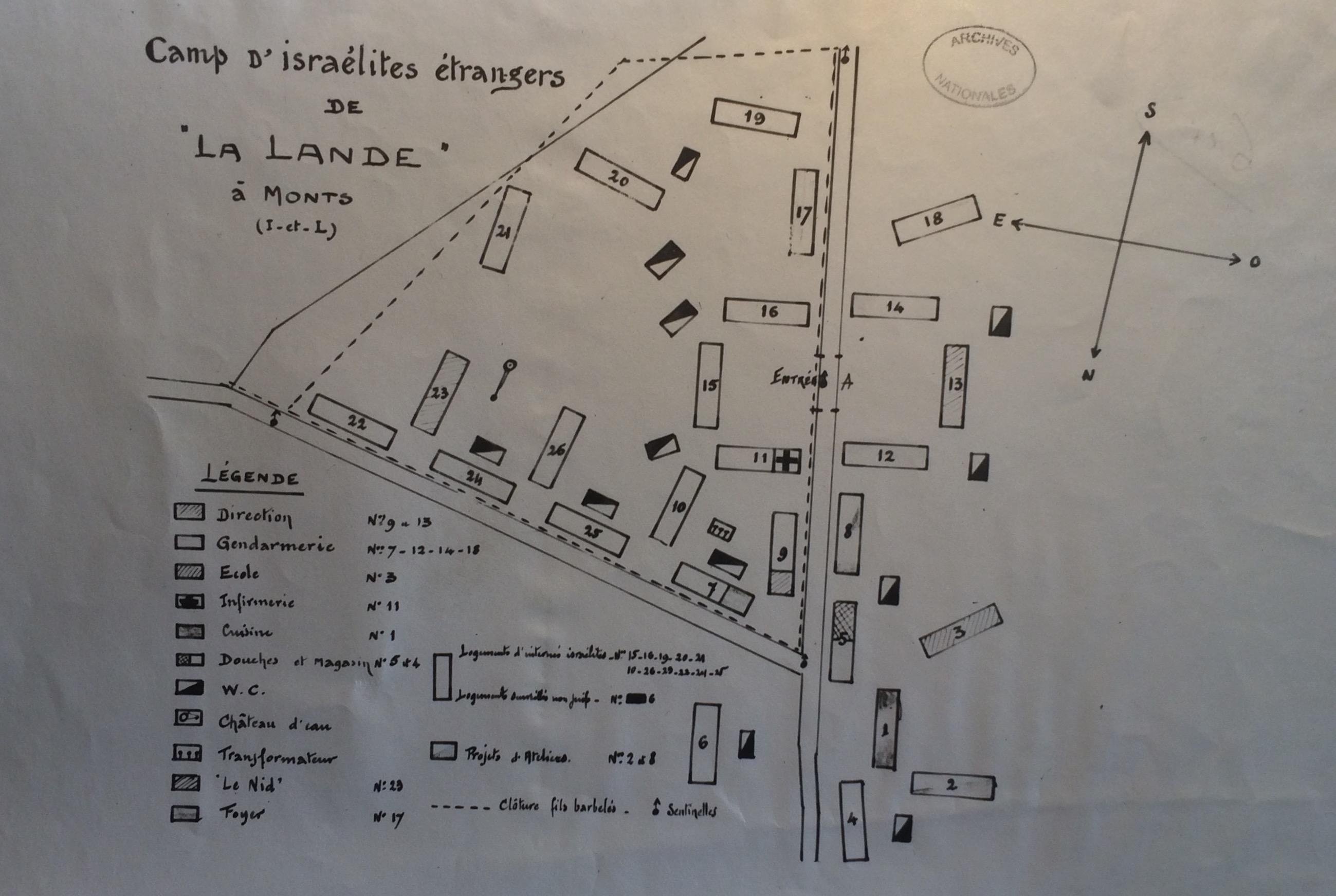 Plan du camp de La Lande [AN F7/15059]