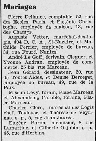 Courrier de Saint-Nazaire et de la région du 23 septembre 1939 [ADLA, en ligne]