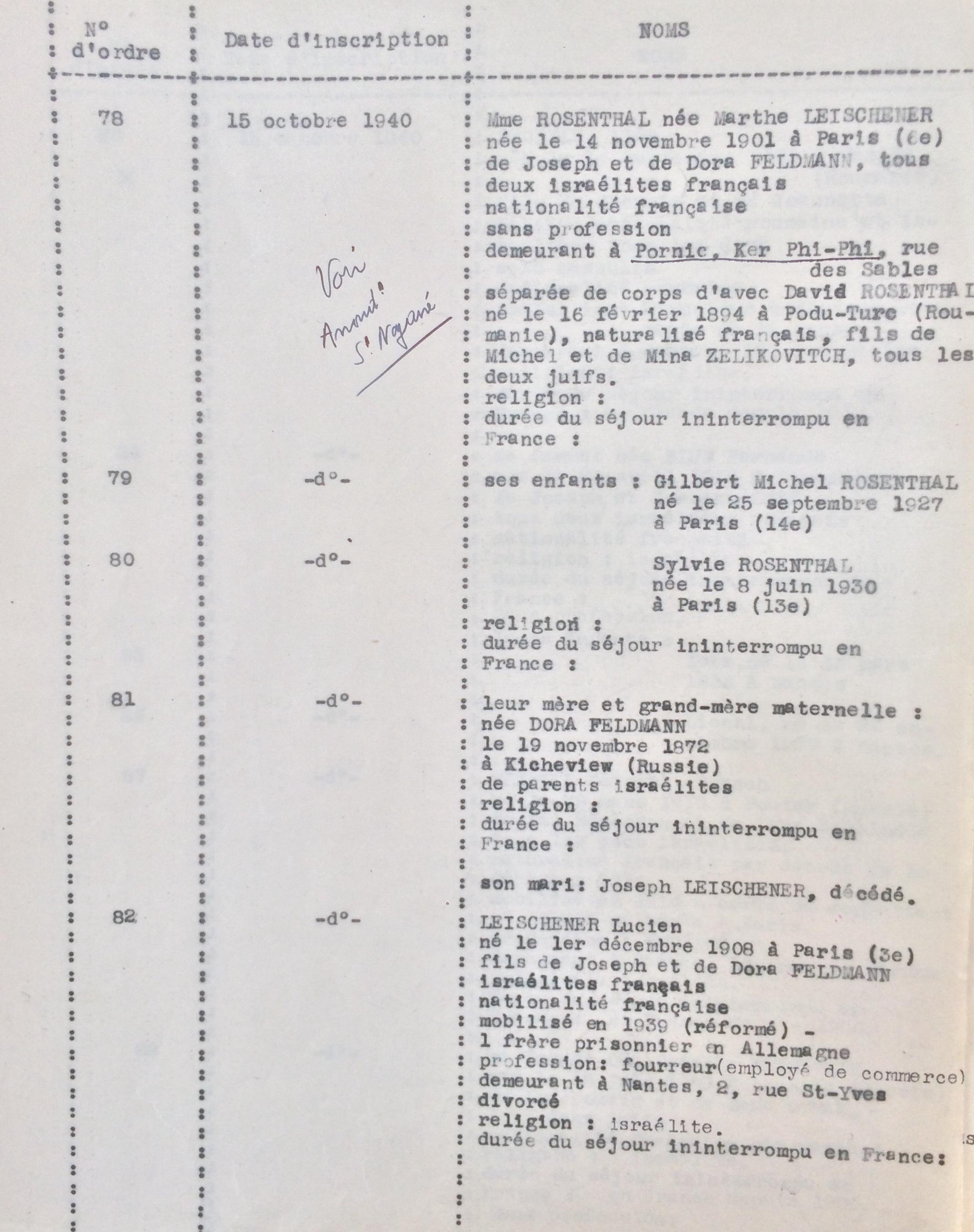 Extrait liste dactylographiée Nantes [1694W25]