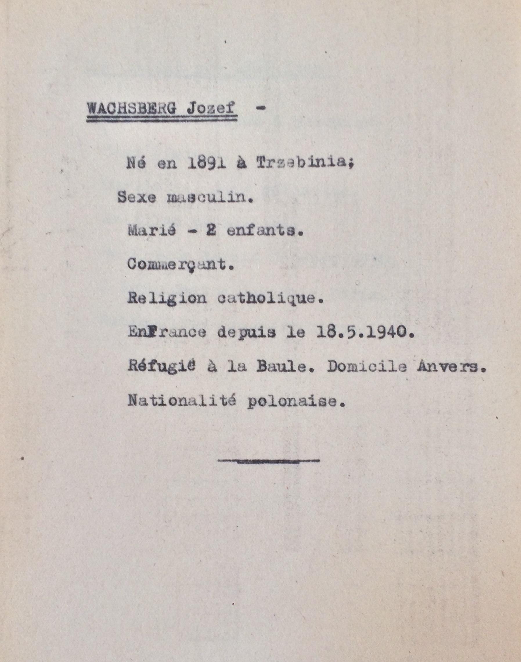 Fiches Polonais/Slovaques/Allemands [ADLA 1694W25]