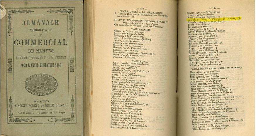 Almanach administratif et commercial 1880 [Château des Ducs de Bretagne, Nantes]