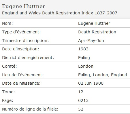 England and Wales Death Registration