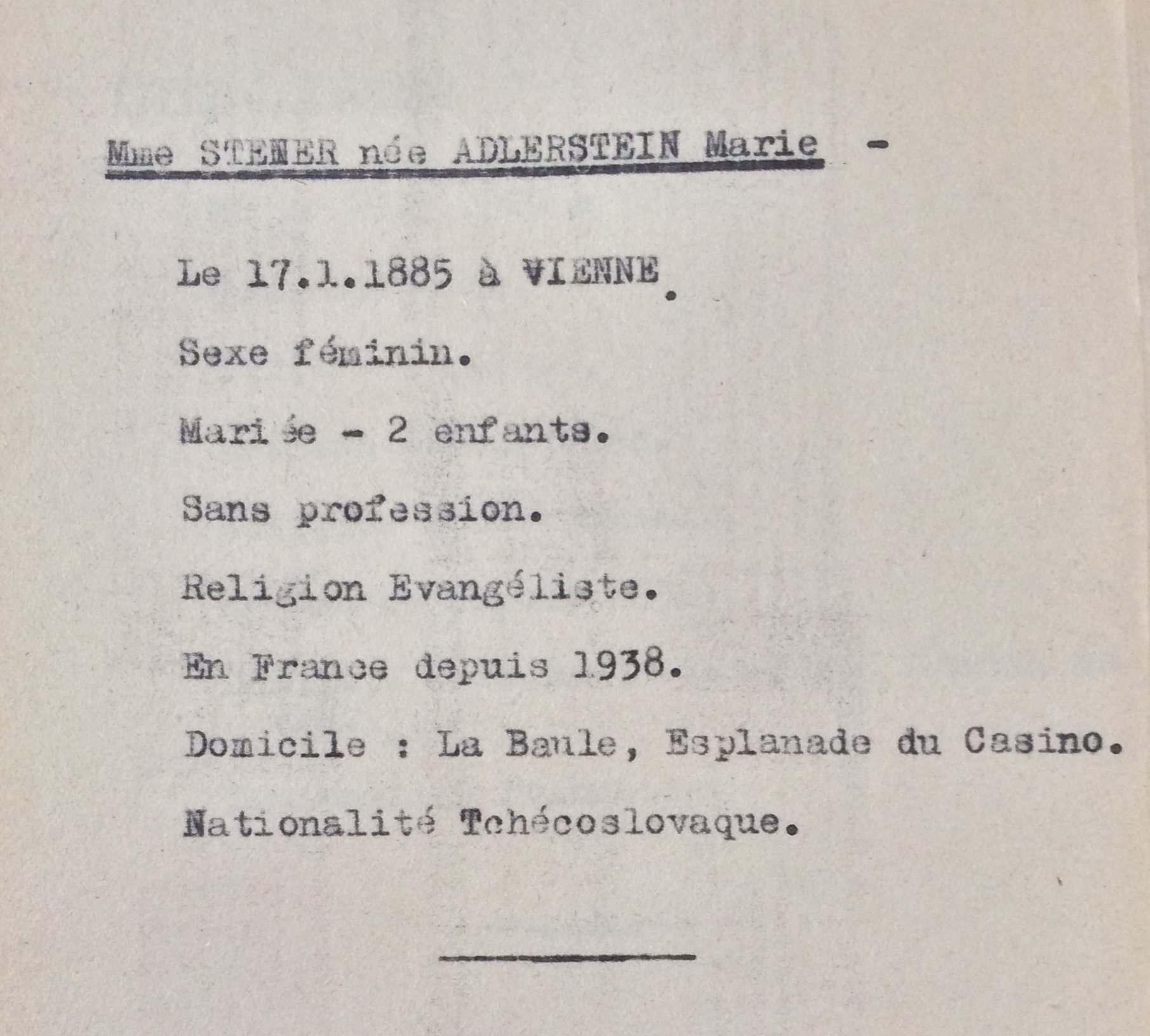 Contrôle Allemands, Tchécoslovaques, Autrichiens, Polonais [ADLA 1694W25]