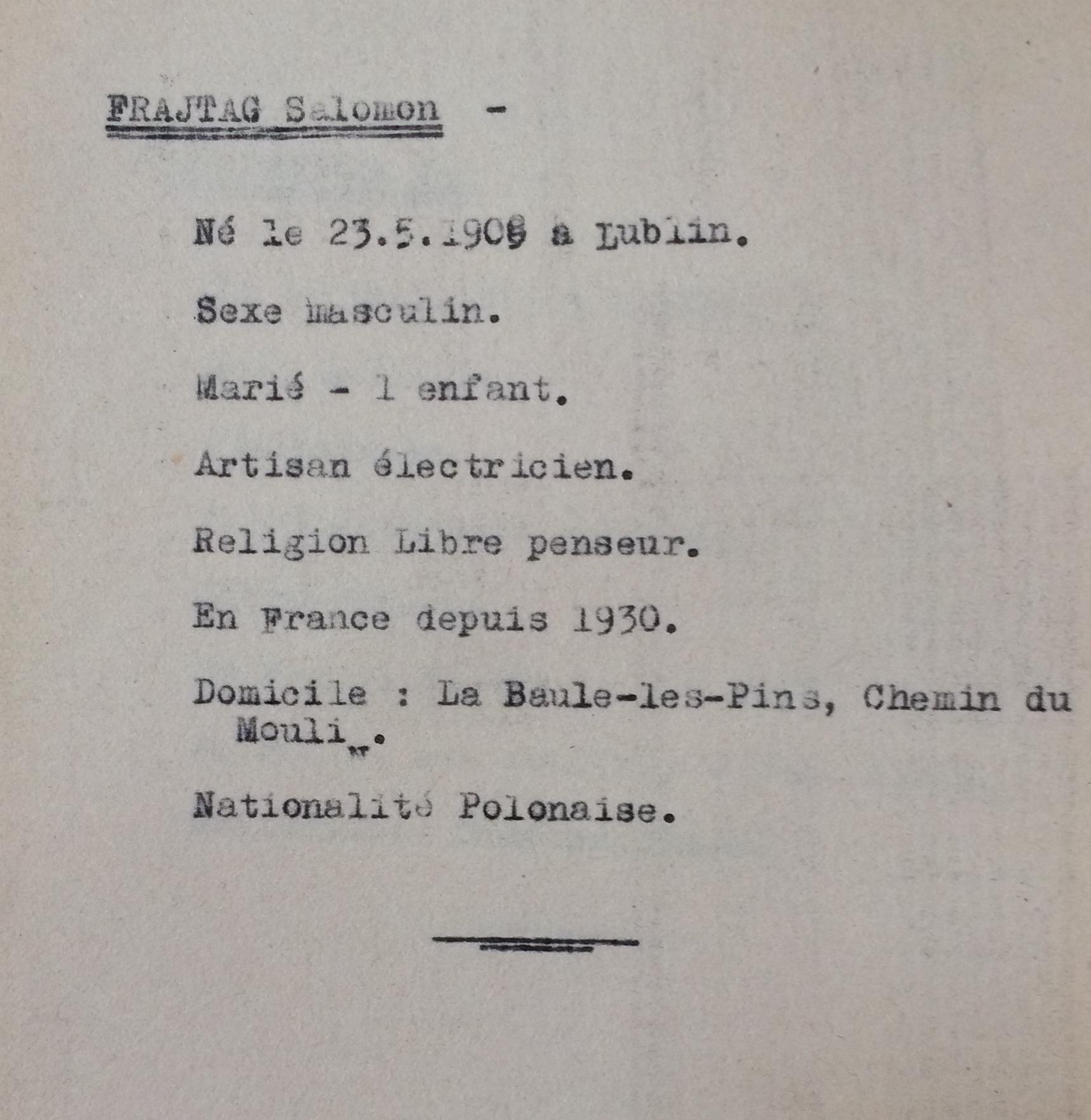 Recensement des Allemands Slovaques Polonais Autrichiens [ADLA1694W25]
