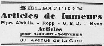 Encart publicitaire [La Mouette, 27 septembre 1941, ADLA, Presse en ligne]