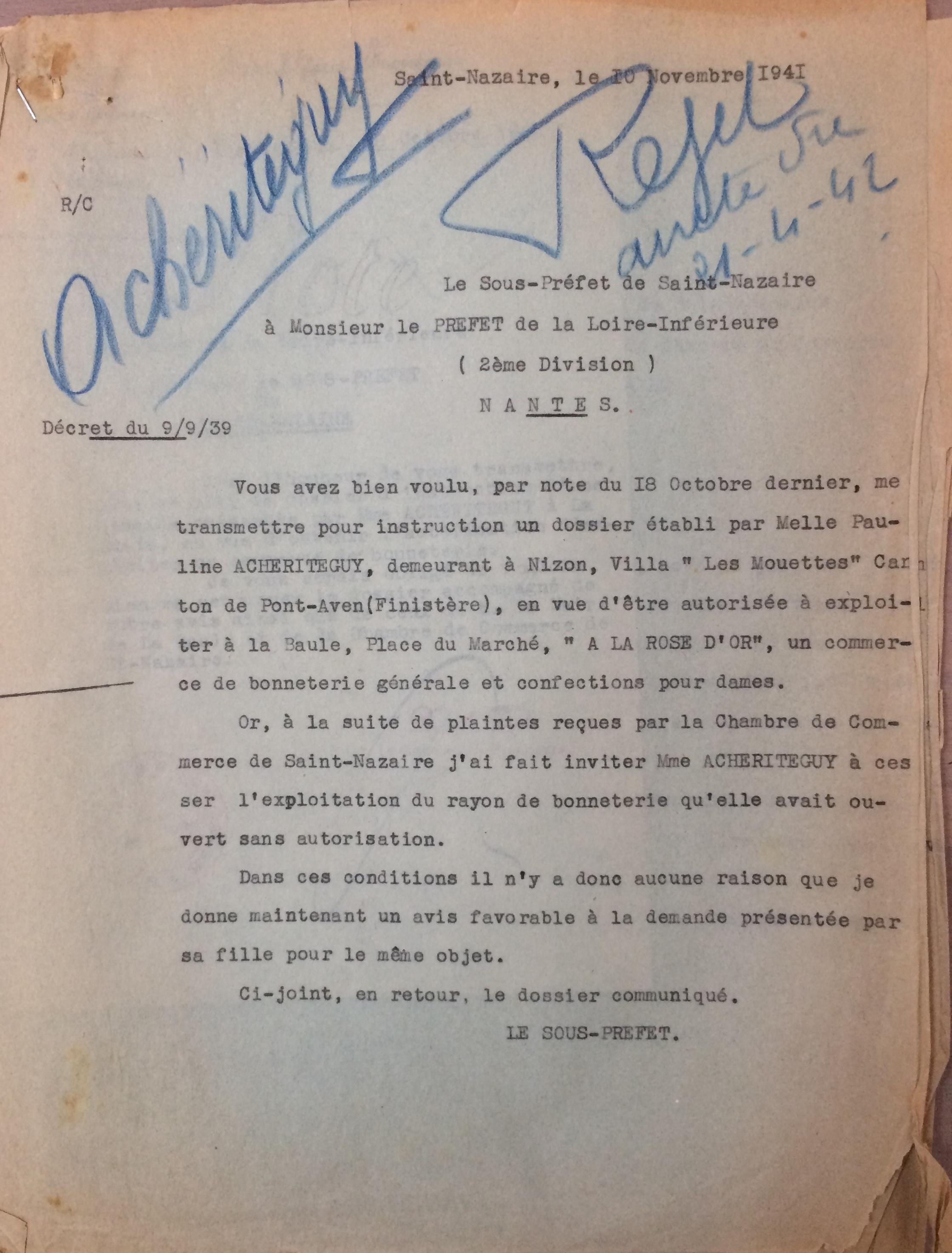 Archives Départementales de Loire-Atlantique [ADLA 1803W98]