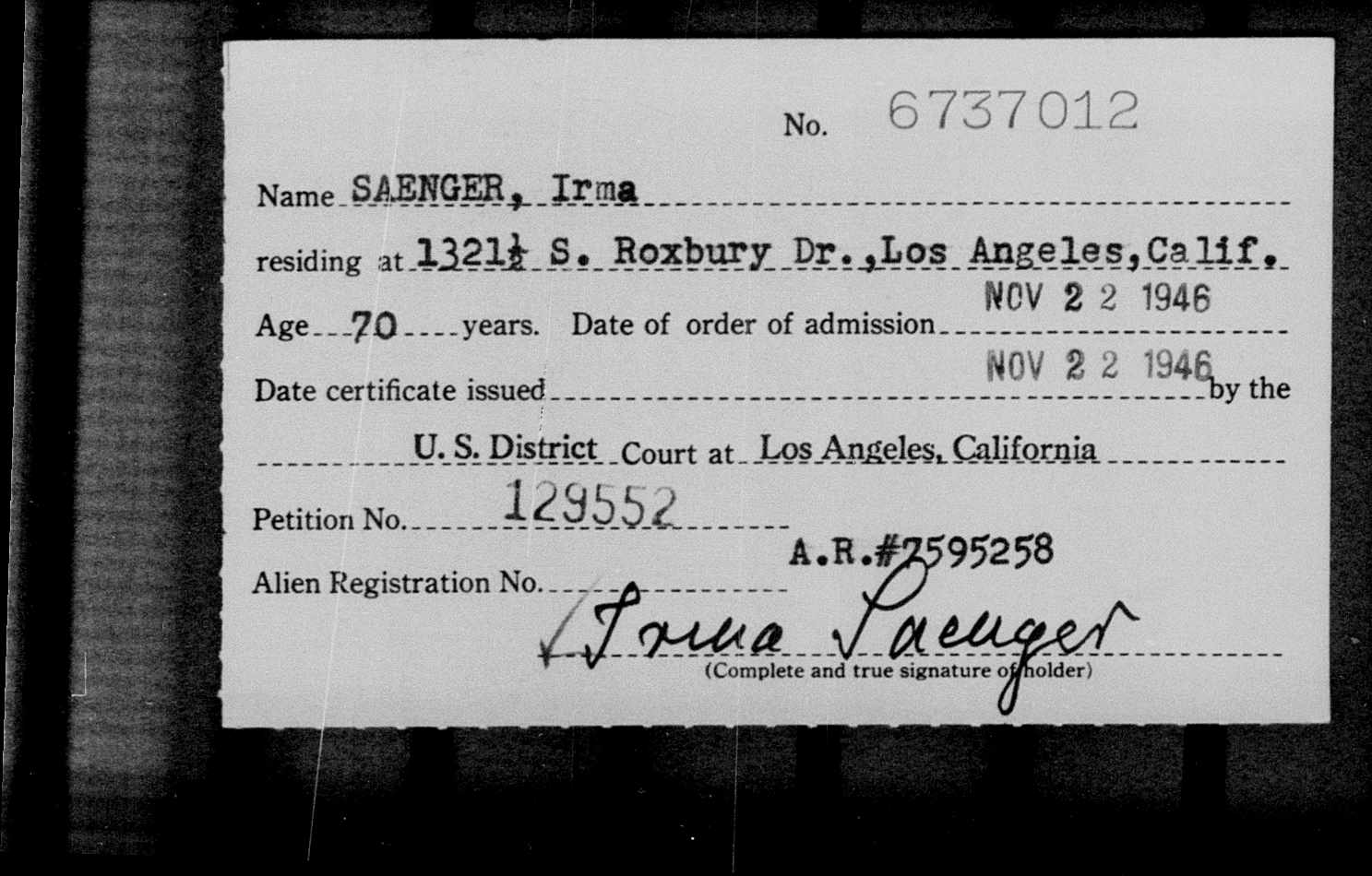 General card index to naturalized citizens, 1915-1978