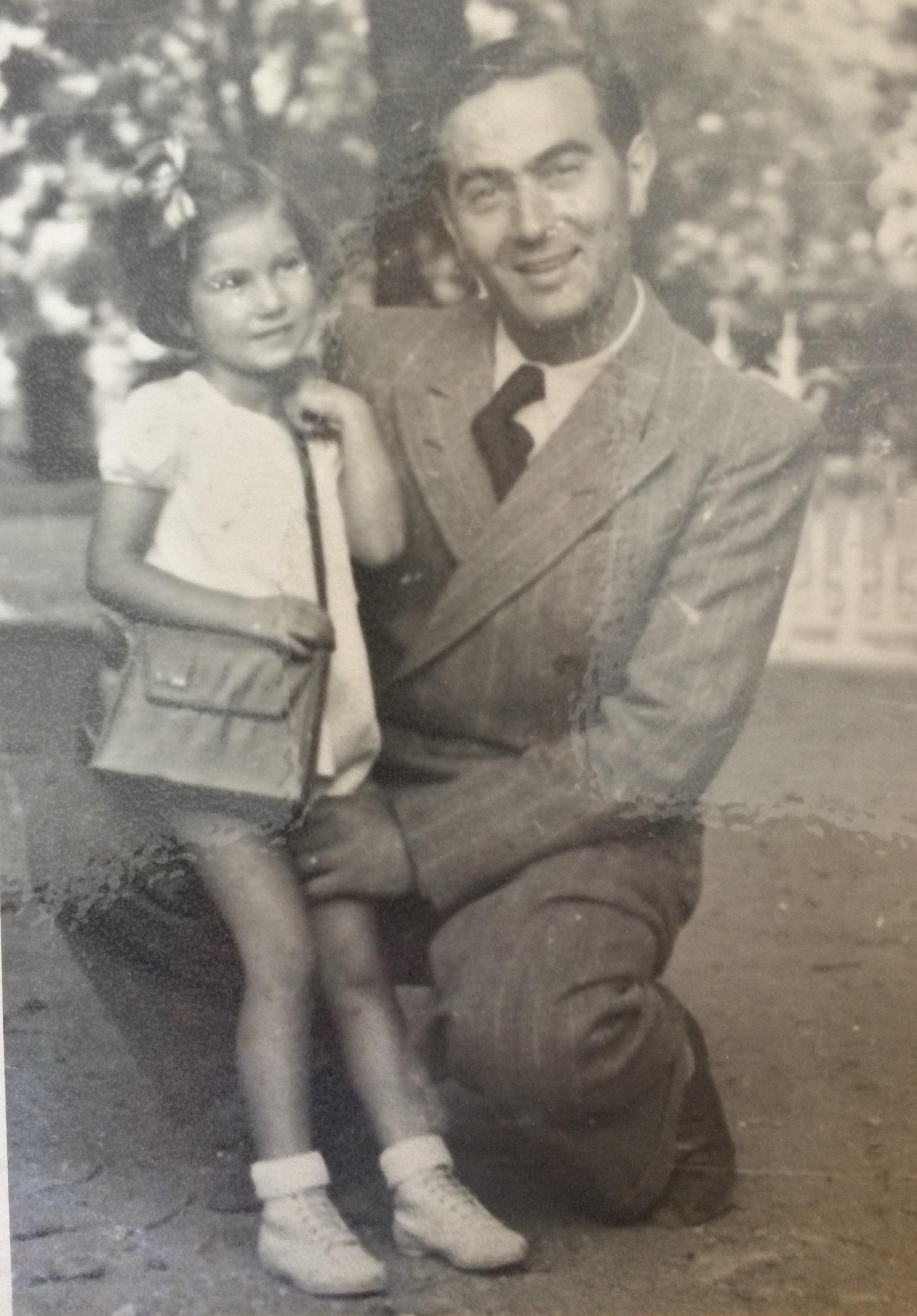 Line et David dit Fernand HIKIM juste après-guerre © collection particulière