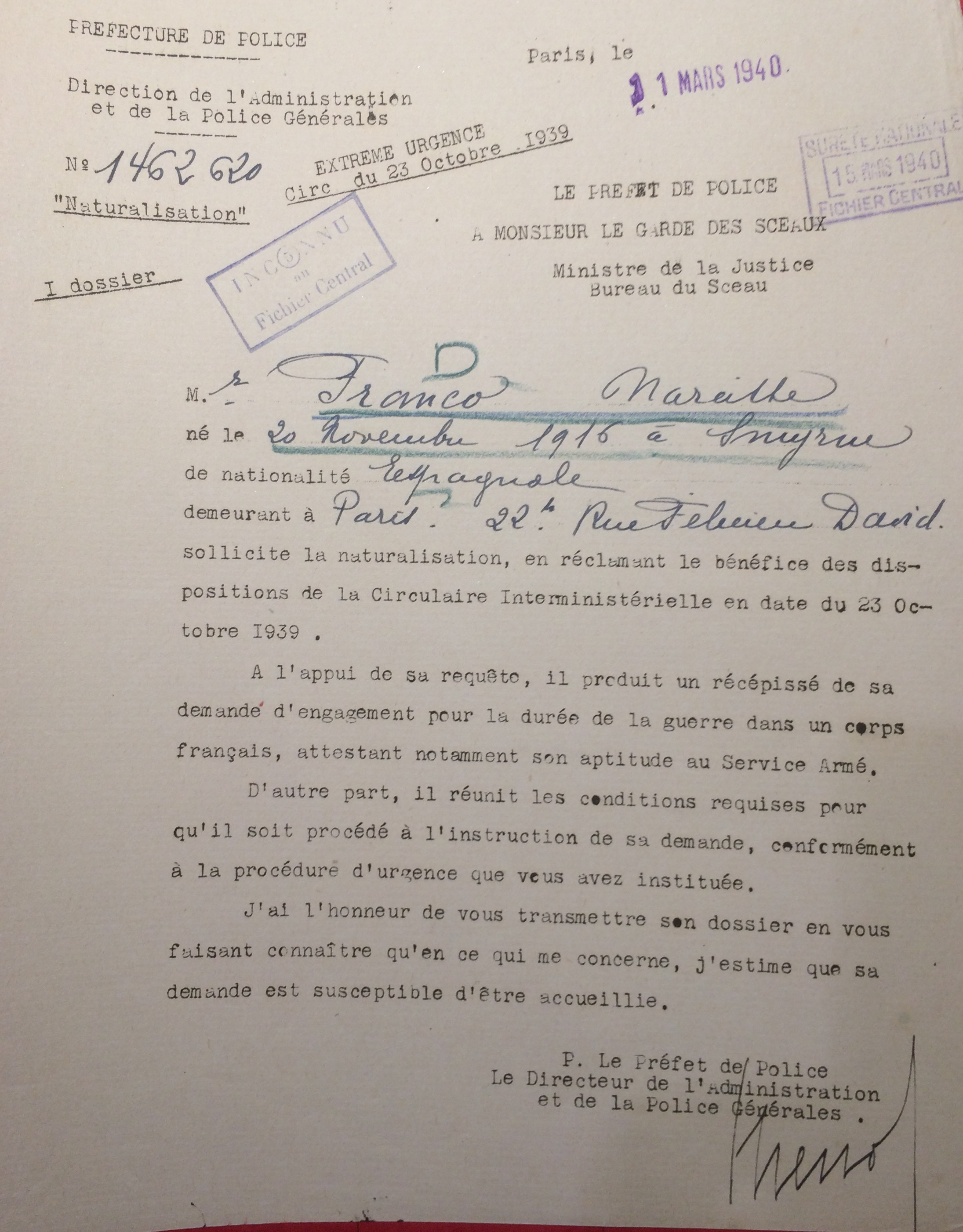 Fonds de la Police de Sûreté [Archives Nationales, 19940445/0229]
