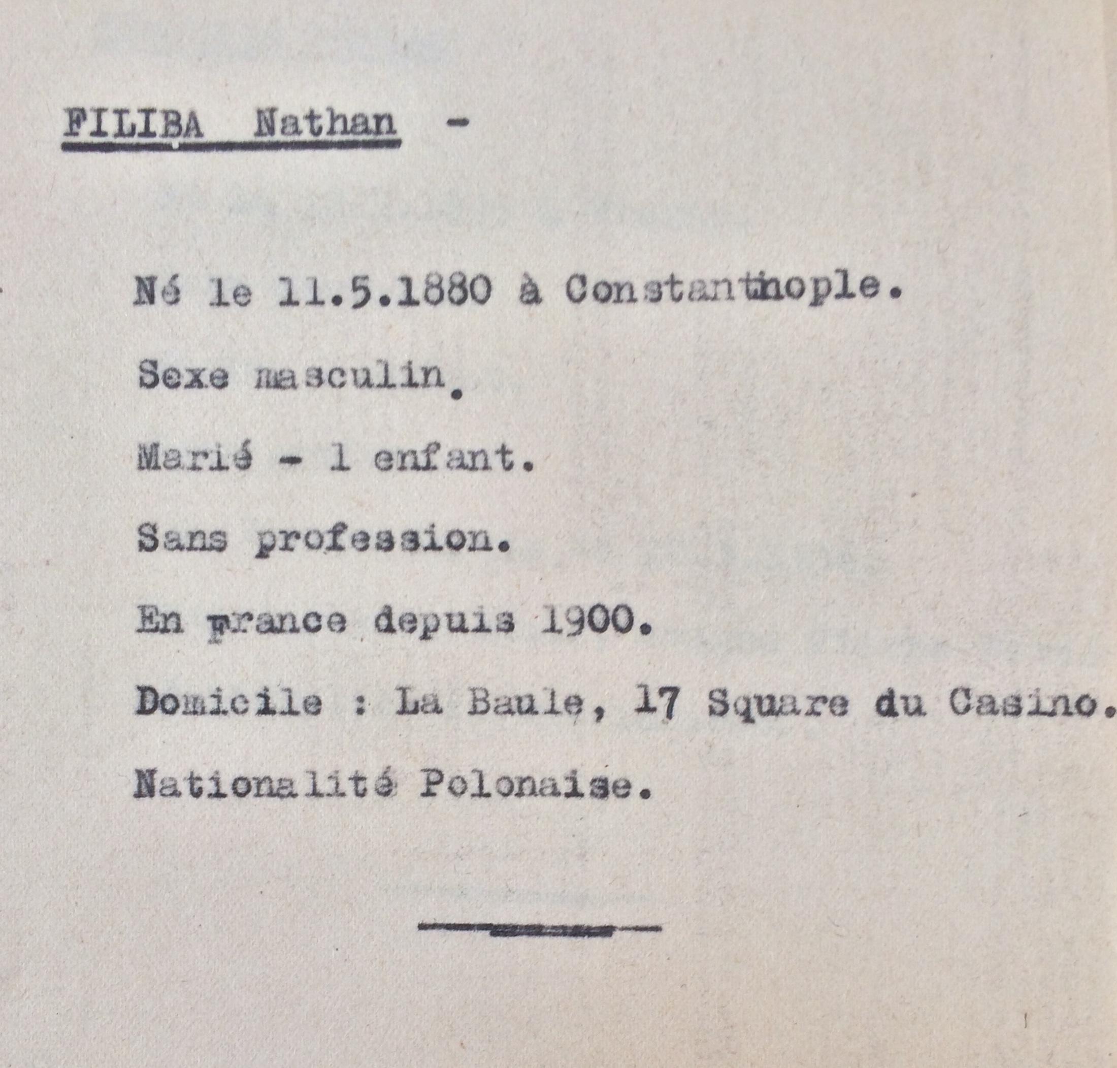 Fiches Polonais, Slovaques, Autrichiens, Allemands sans date [ADLA 1694W24]