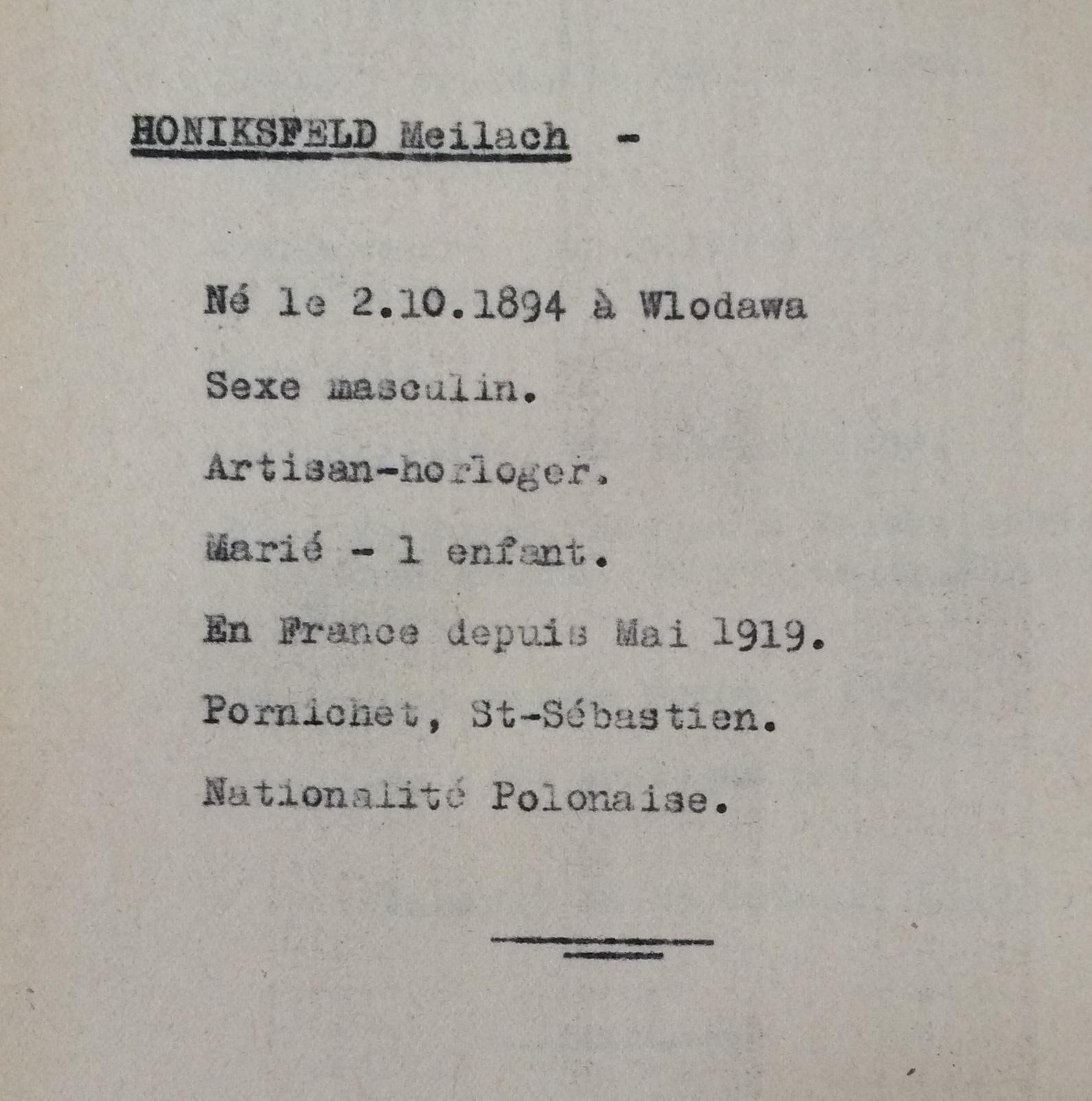 Etat des Polonais, Slovaques, Autrichiens, Allemands, sans date [ADLA 1694W25]