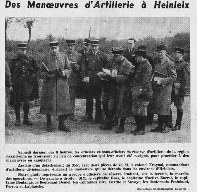 Courrier de Saint-Nazaire et de la Région 18 mars 1939 {ADLA, presse en ligne]