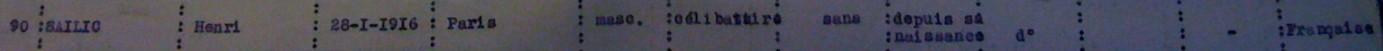 Extrait liste dactylographiée recensement 08 novembre 1940 [ADLA 1684W25]