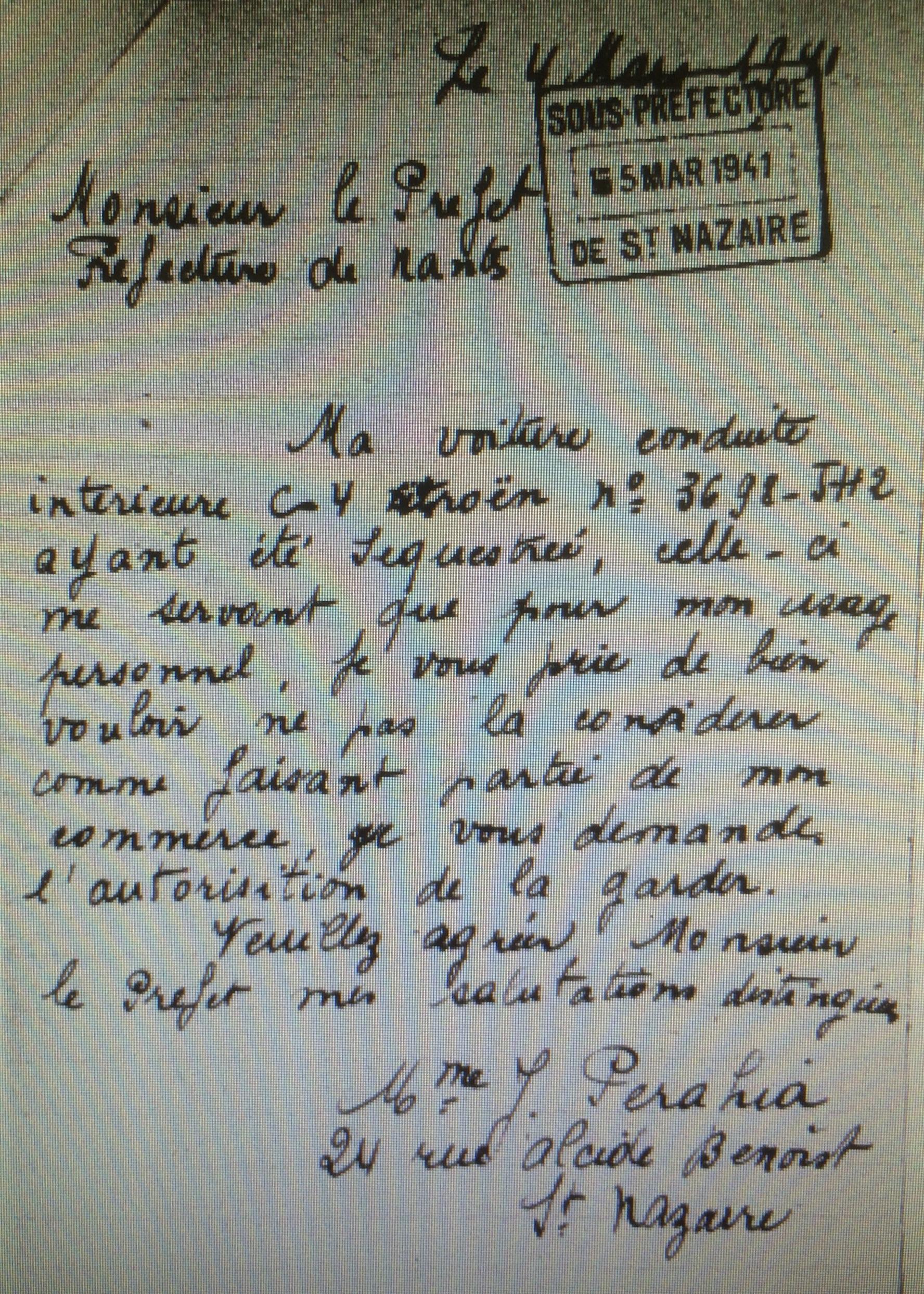 Dossier d'aryanisation du CGQJ [AN AJ38/4598 dossier n°2541]