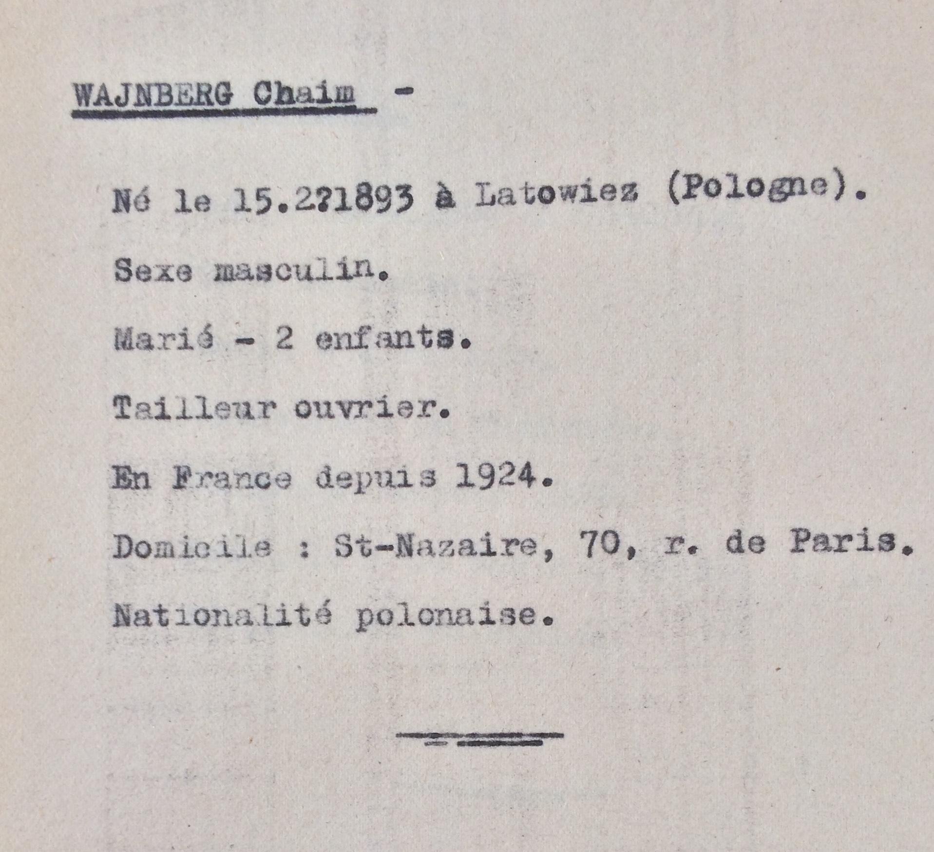 Recensement Polonais/Slovaques/Allemands/Autrichiens [ADLA 1694W25]