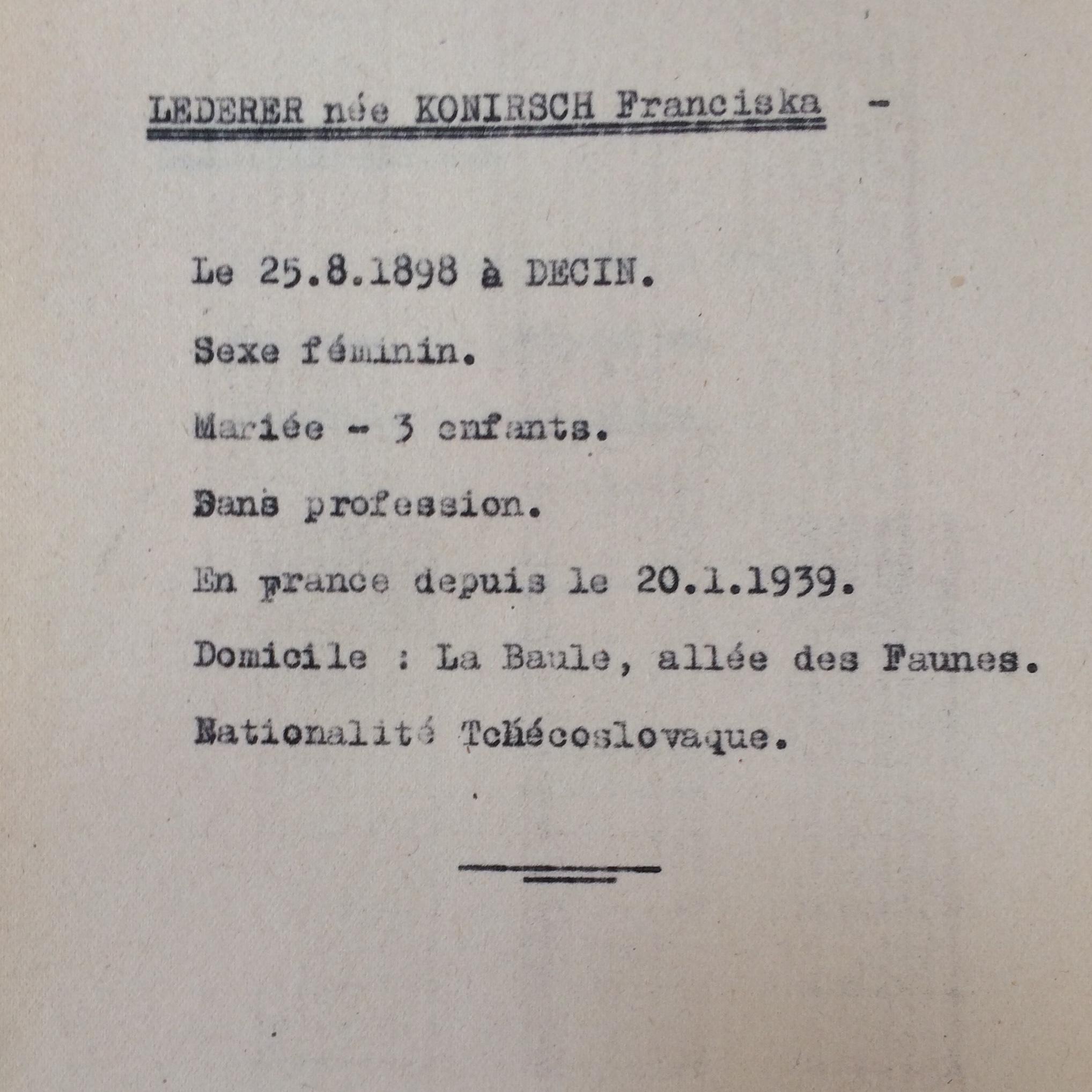 Recensement étrangers Polonais/Allemands/Autrichiens/Hongrois... [ADLA 1694W25]