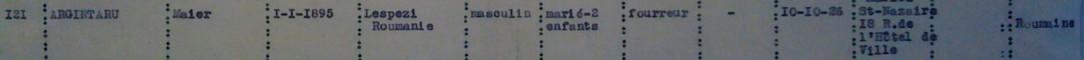 Extrait liste dactylographiée recensement arrondissement Saint-Nazaire [ADLA 1694W25]