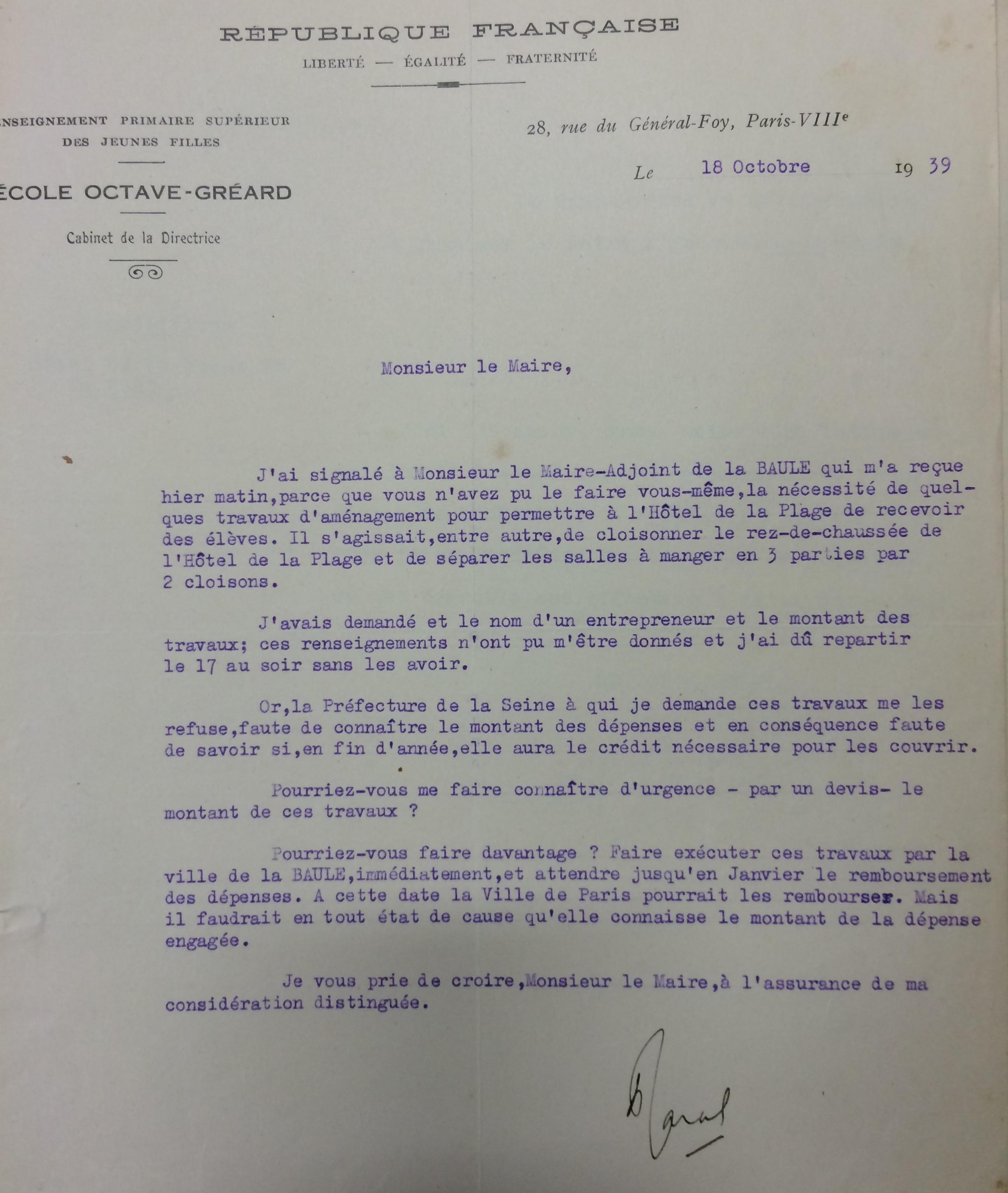 Dossier réquisitions Hôtel de la Plage et du Golfe [AMLB]
