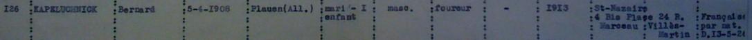 Extrait liste dactylographiée du recensement 08 novembre 1940 [ADLA 1694W25]