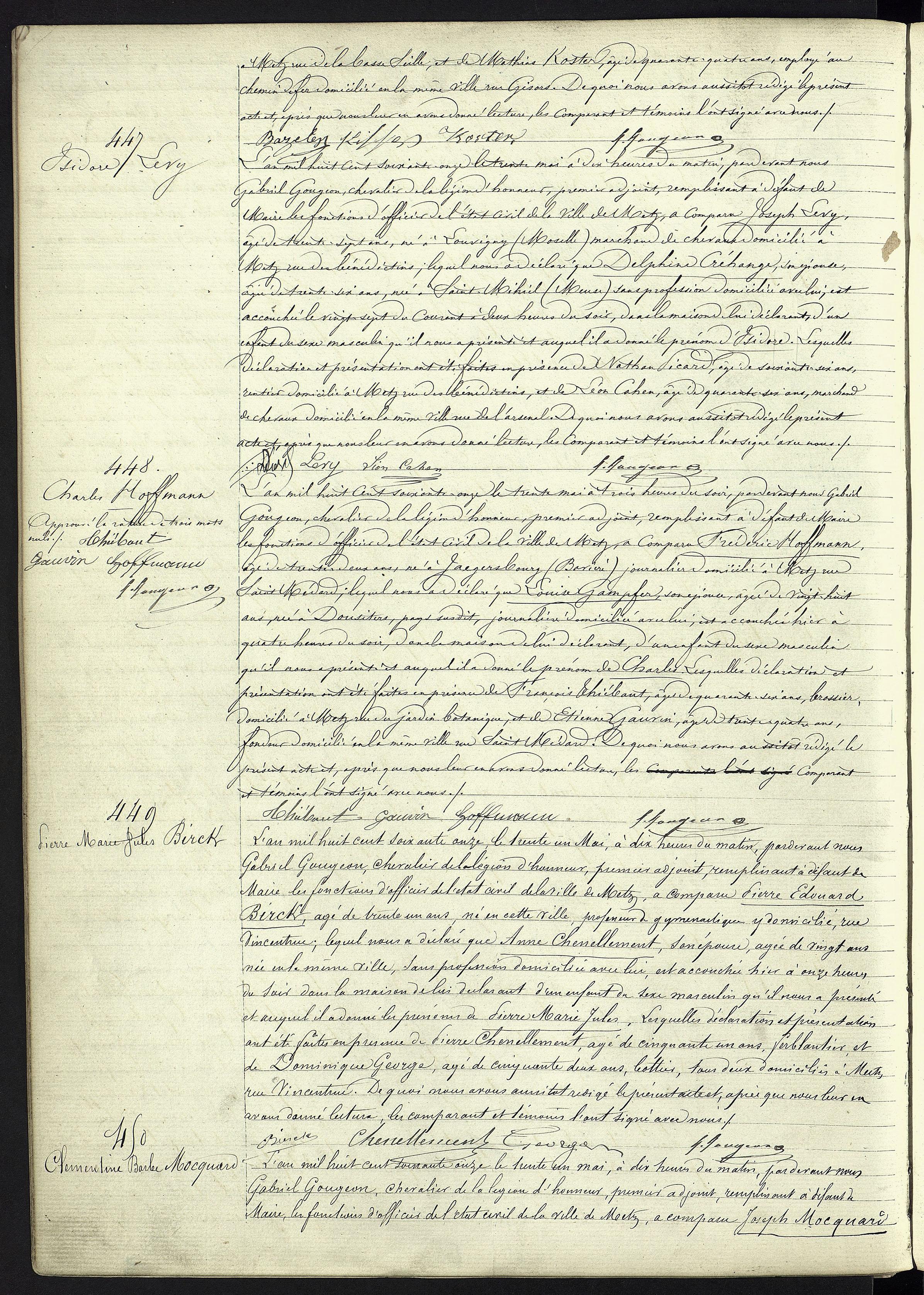 Archives Municipales de Metz [1EC1]