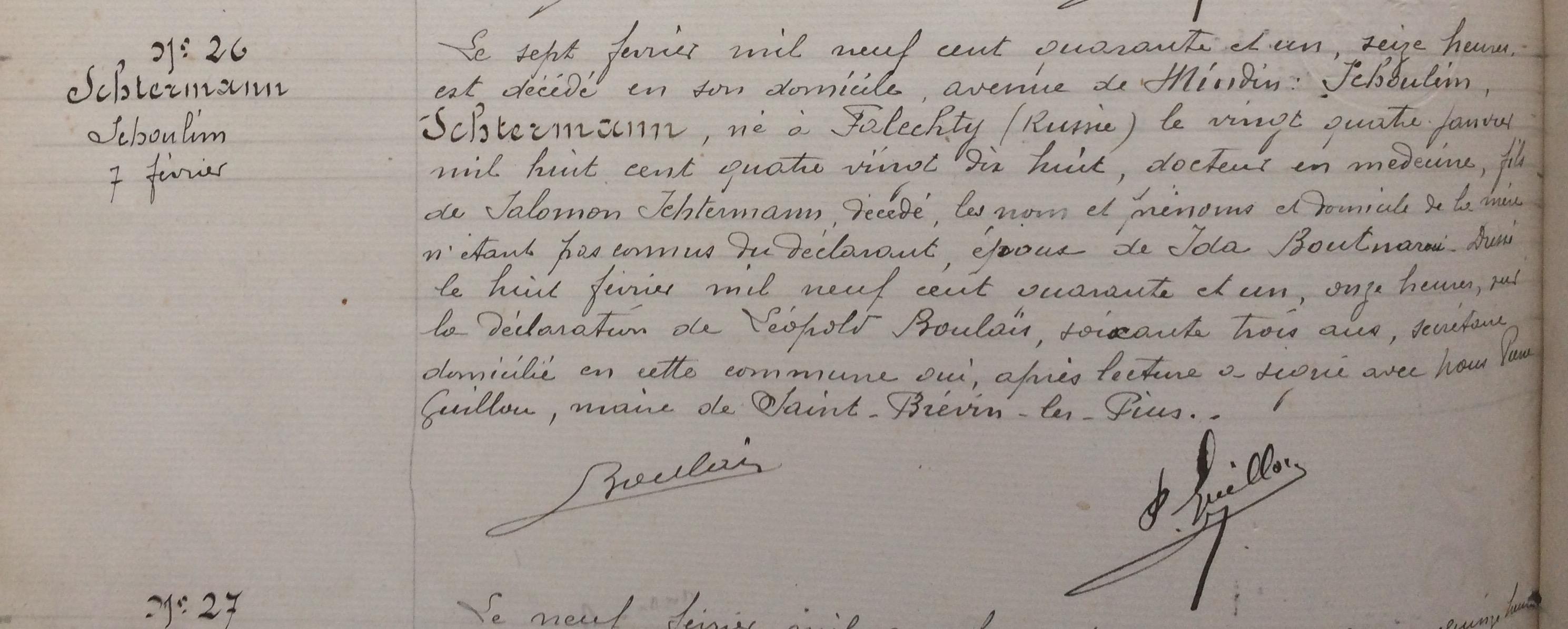 [Archives Municipales de Saint-Brevin, Etat civil]