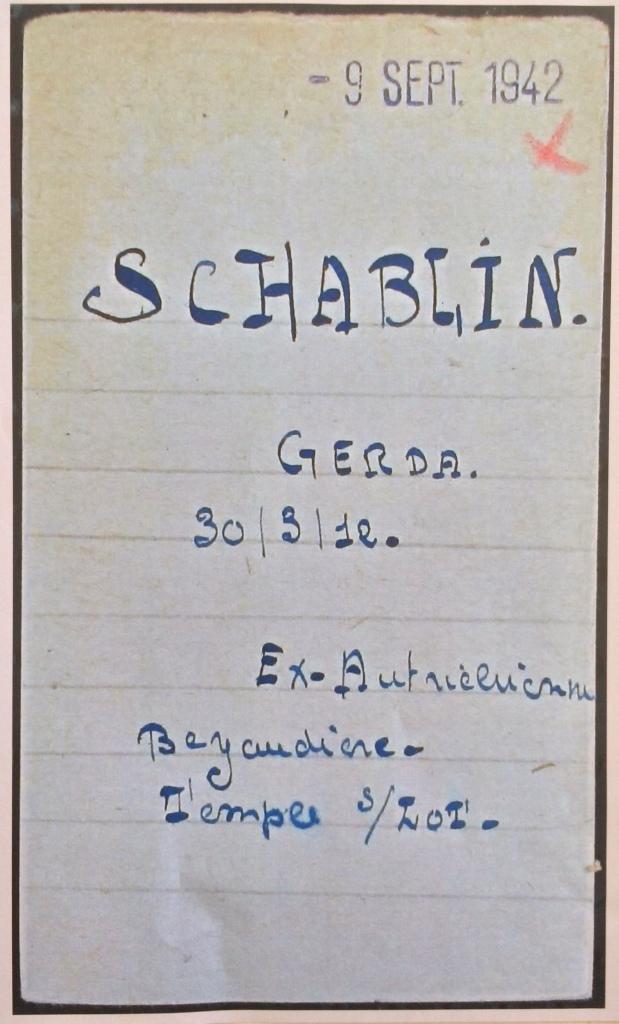 Fiche d'internement du camp de Drancy [Archives Nationales F9]