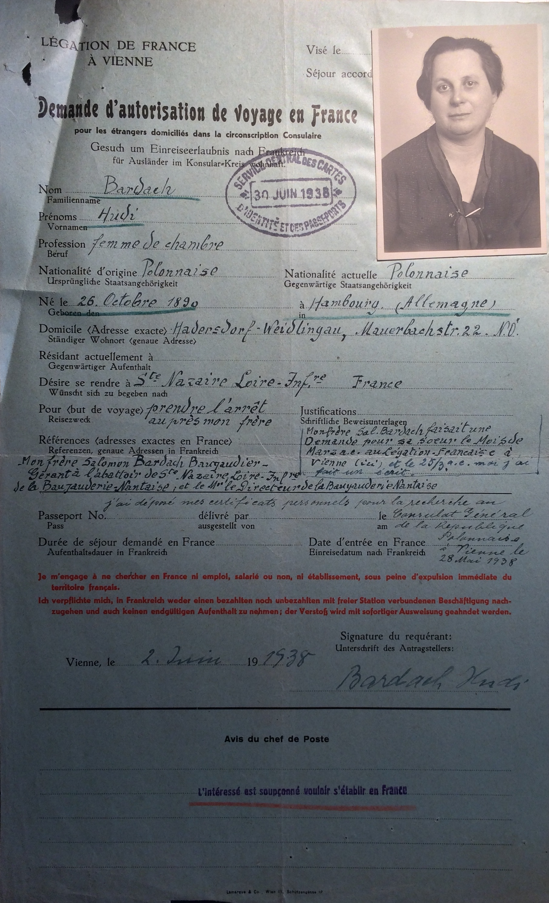 [Archives Nationales, dossiers de la Police de Sûreté, 19940434/0086]