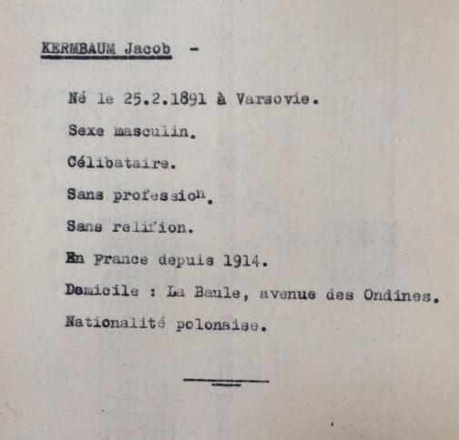 Contrôle Polonais/Slovaques/Allemands/Autrichiens [ADLA 1694W25]