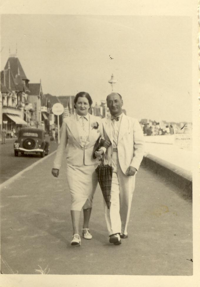 Else et Paul AUERBACH remblai de La Baule août 1939