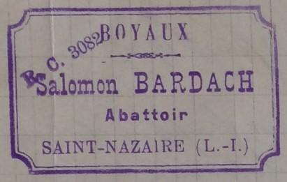Tampon de Salomon BARDACH [Archives Nationales, dossiers de la Police de Sûreté, 19940434/0086]