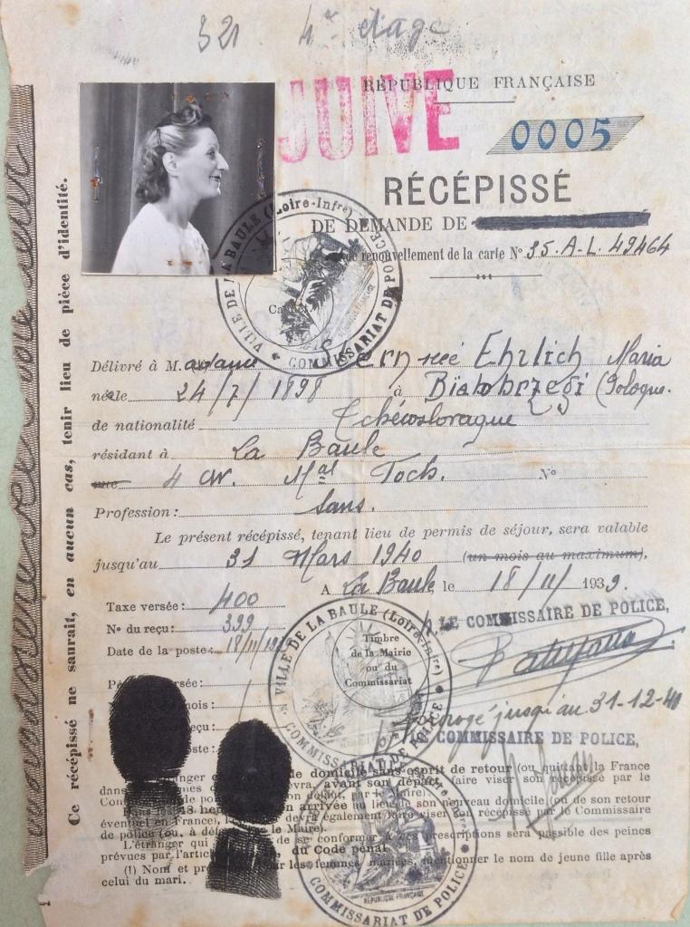 Dossier d'étranger de Maria STERN [ALDLA 4M939]