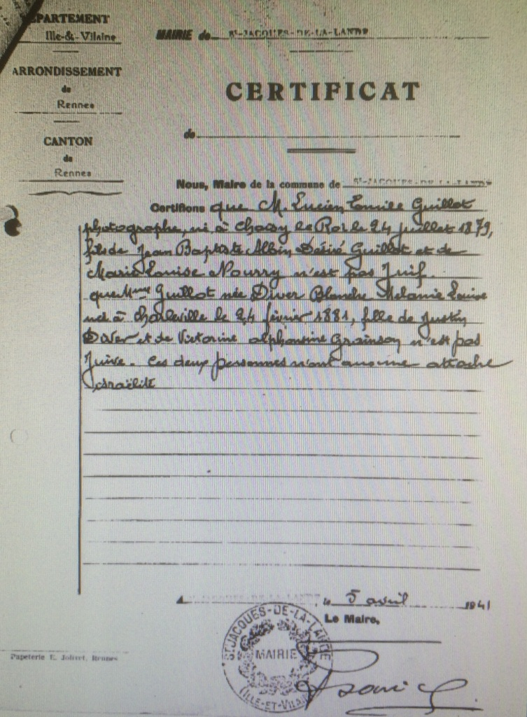 Dossier d'aryanisation  Commissariat Général aux Question Juives [AN, AJ38/4598, dossier n°2537]