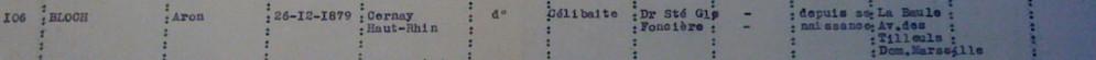 Liste dactylographiée du recensement [ADLA 1694W25]