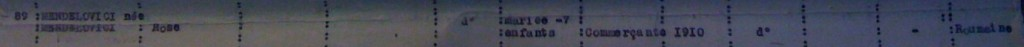 Extrait liste dactylographiée du recensement [ADLA 1694W25]