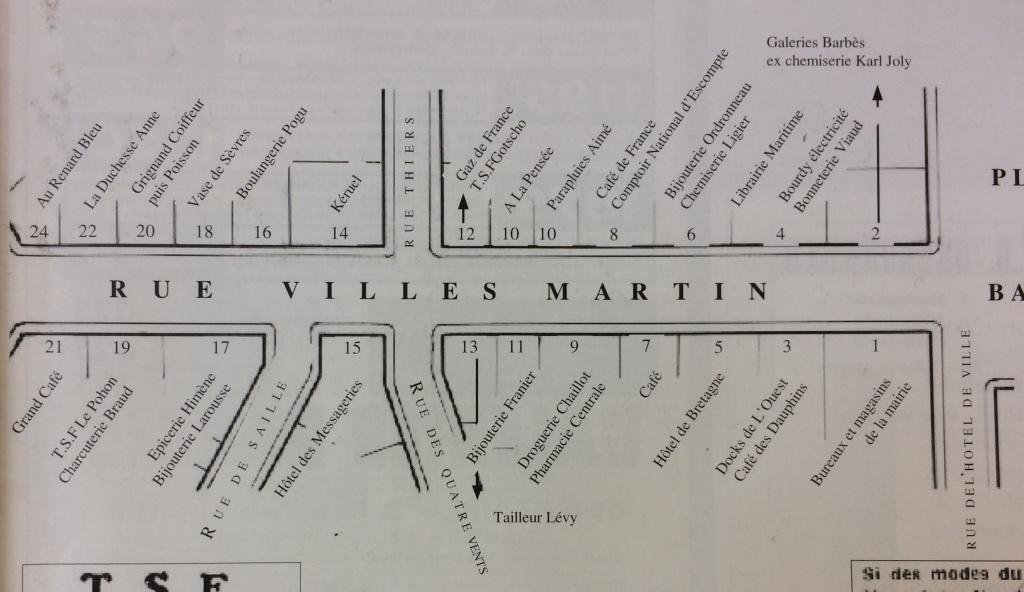 """Magasin du Tailleur LEVY situé à l'angle du 13, rue Villès Martin et de la rue des Quatre Vents [AMSN in """"Raconte-nous Saint-Nazaire : quelques pas dans nos souvenirs]"""