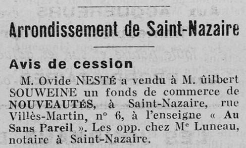 Affiches Régionales de l'Ouest 26 décembre 1939 [ADLA, presse en ligne]