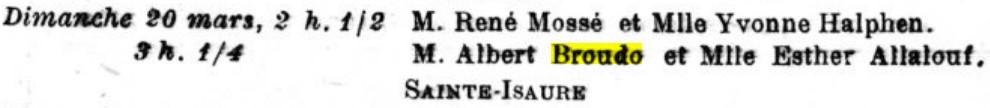 L'Univers israélite 18 mars 1927