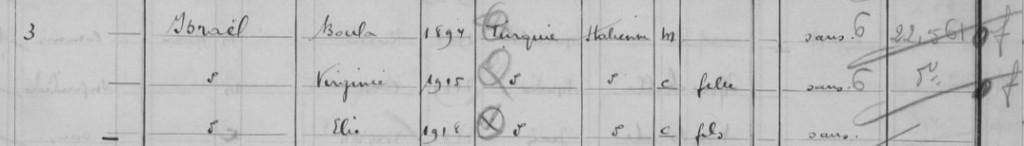 Recensement 1936 Le Perreux-sur-Marne [Archives Départementales de la Seine-et-Marne, D2M8 803]
