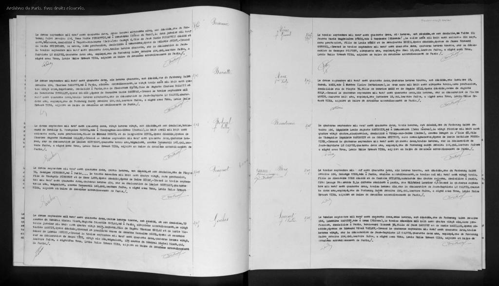 Acte de Décès de Sarah KOLP [Archives de Paris, D408_0093]