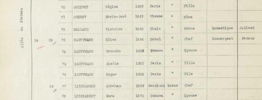 Recensement 1936 LeRaincy [Archives Départementales du Val d'Oise, RAINC139]