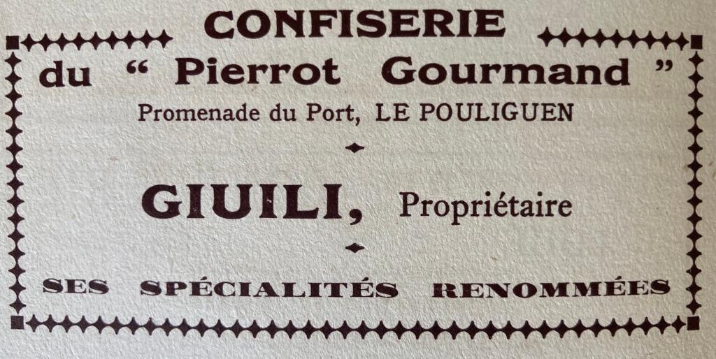 publicité Pierrot Gourmand