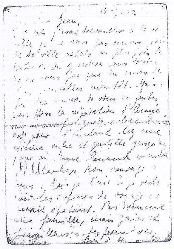 Courrier SCHAUL [Dirk KRÜGER, collection particulière]