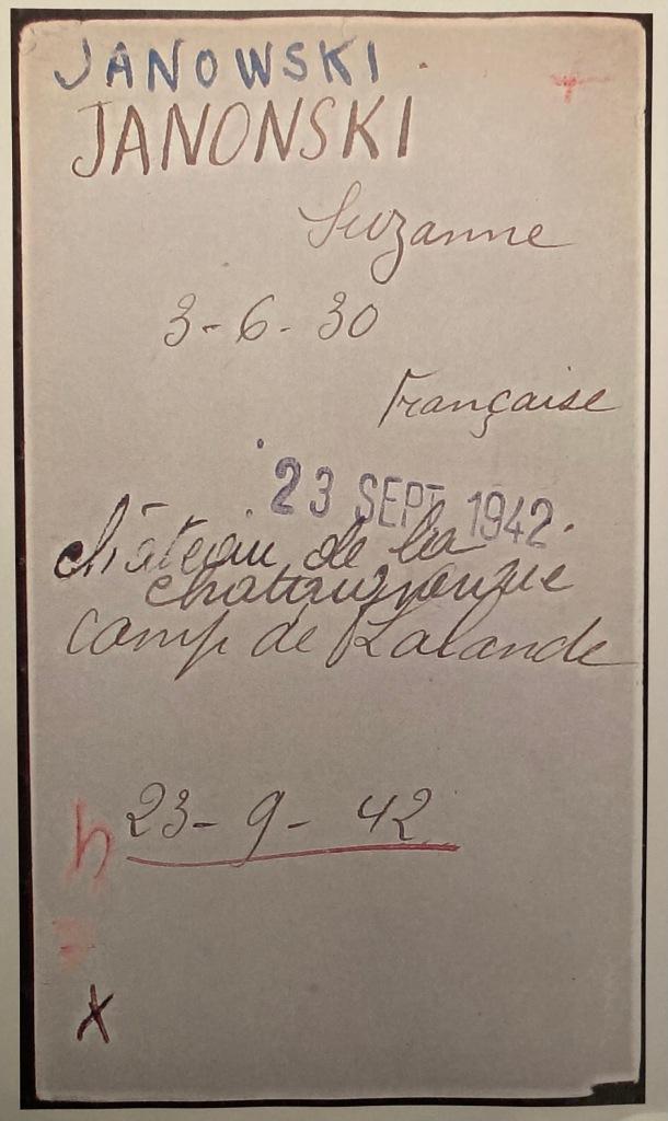 Fiche d'internement du camp de Drancy [AN, F9/5744]