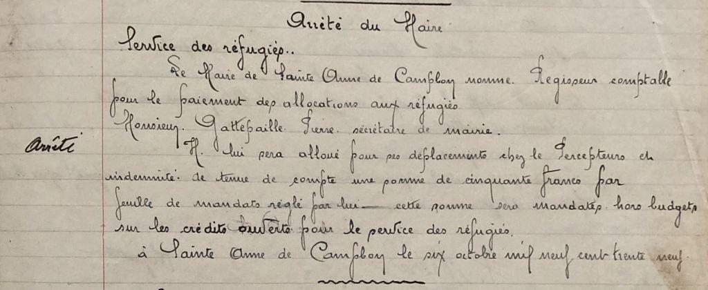 Cette image a un attribut alt vide ; le nom du fichier est arrete.jpgDélibérations du Conseil Municipal de Sainte-Anne-de-Campbon 1903-1939 [AM Sainte-Anne-de-Campbon, 1W67]