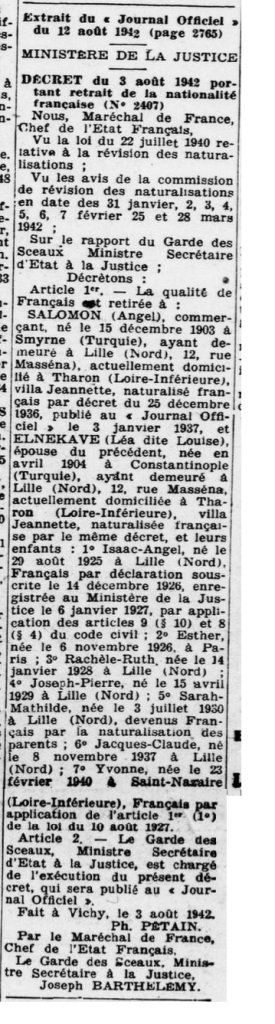 Le Phare 29 septembre 1942 [ADLA, presse en ligne]