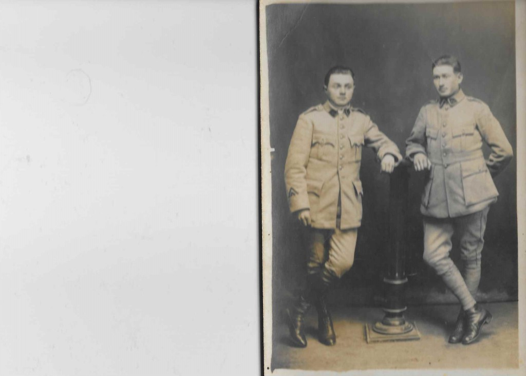 Louis RENAUD (à gauche)  © collection particulière famille RENAUD